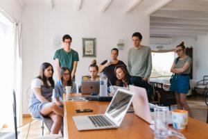 a social media team