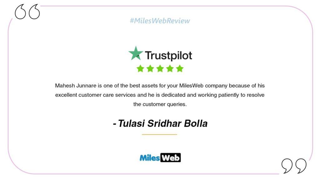 Review by Tulasi Sridhar Bolla