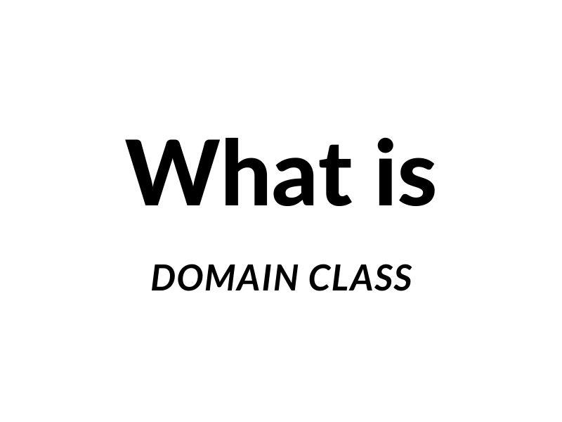 Domain Class