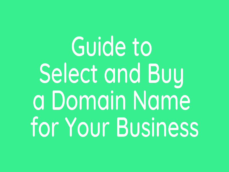 guide to select and buy a domain name