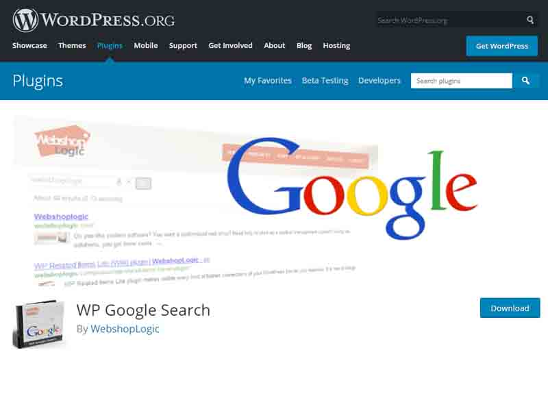 Install the WP Google Search Plugin